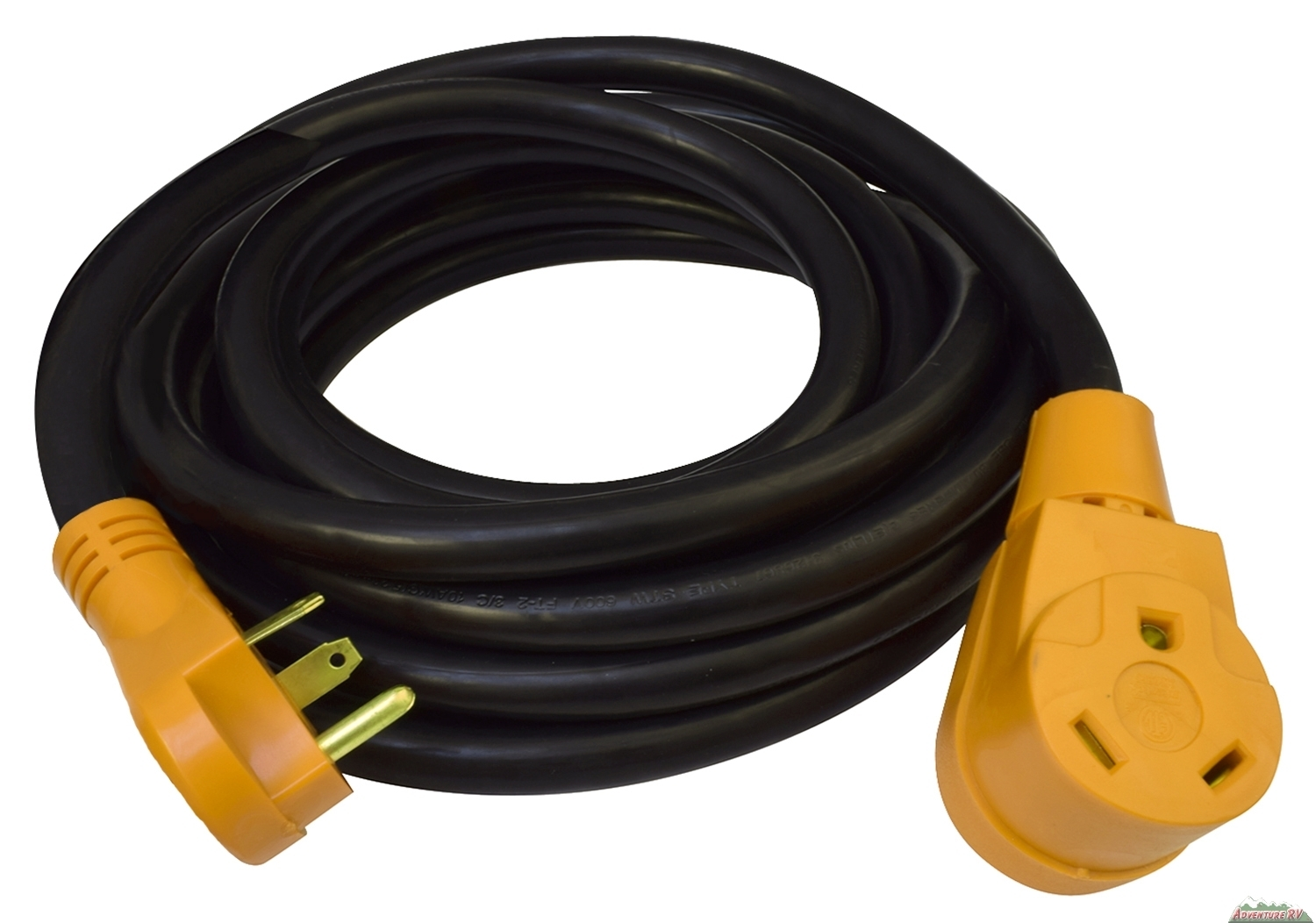 30 Amp Cynder RV Power Extension Cord 25' ft Yellow