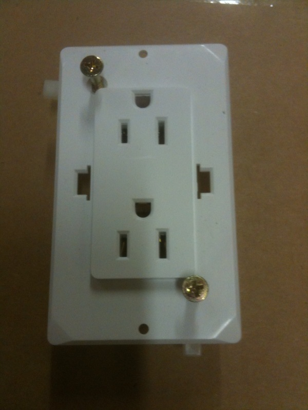 Self Contained Receptacle White 7 99