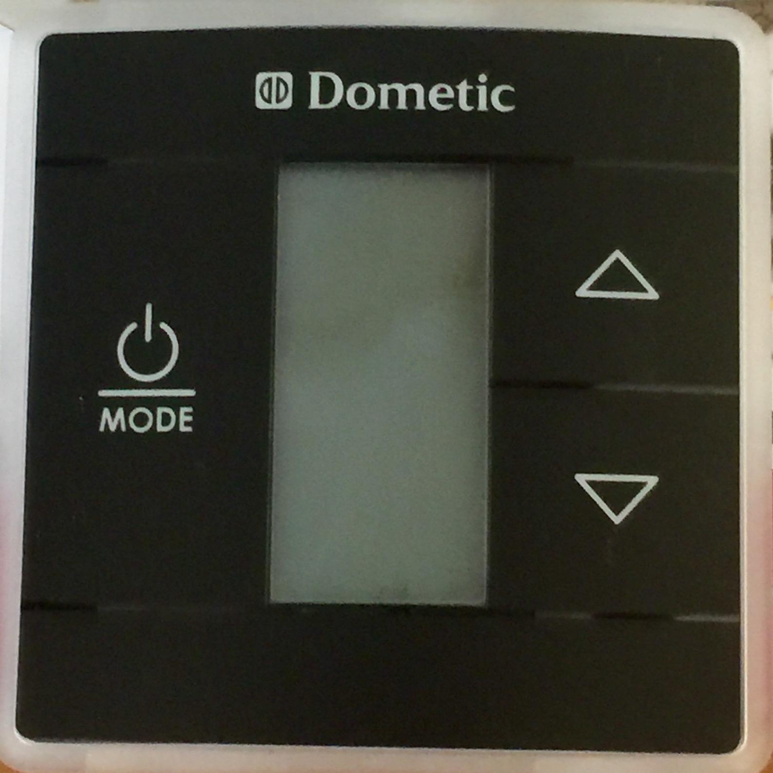 Dometic Black Single Zone Cool  Furnace  Heat Pump Lcd