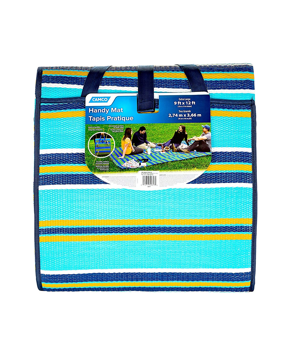 Camco 42817 9 X12 Reversible Mat With Strap Beach Camping 59