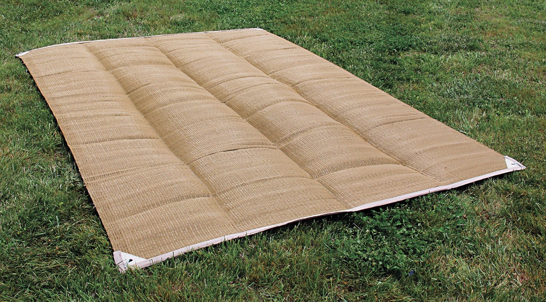 Reversible Awning Patio Carpet Mat 6 X 9 Brown 42 96
