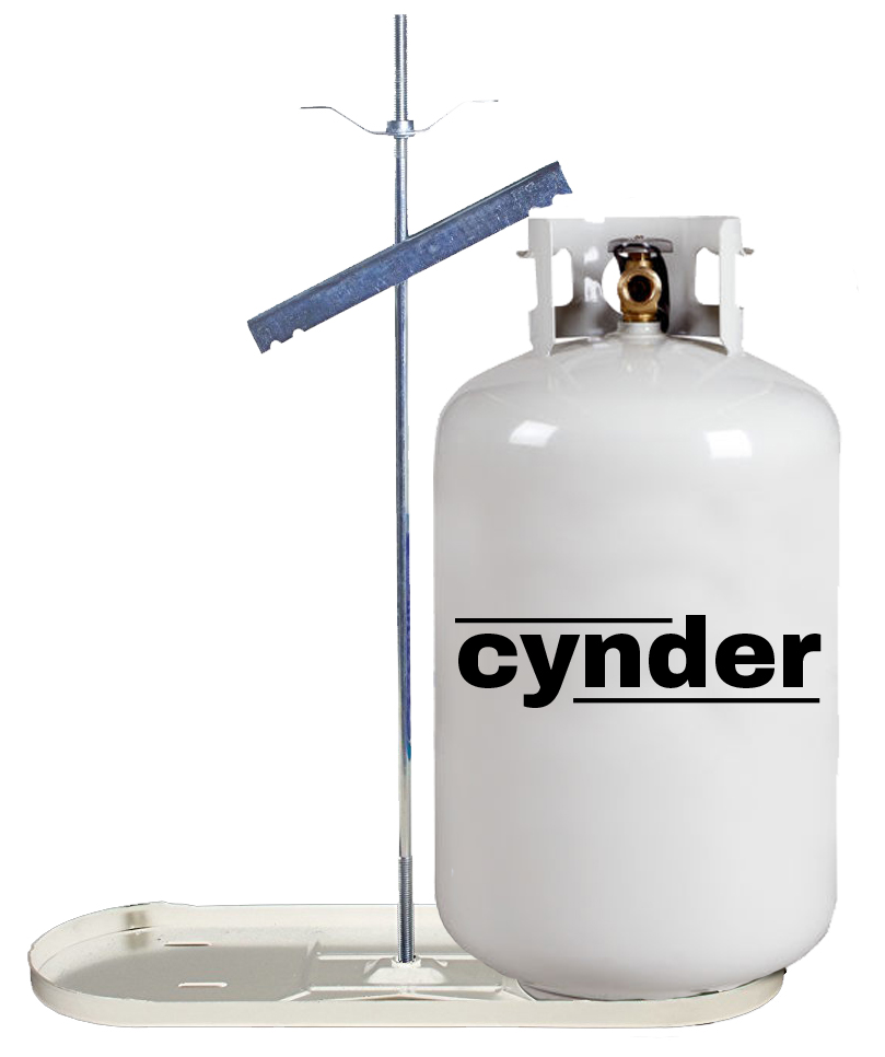 Cynder Double Bottle Rack 30 lb  LP Propane Tank Cylinder