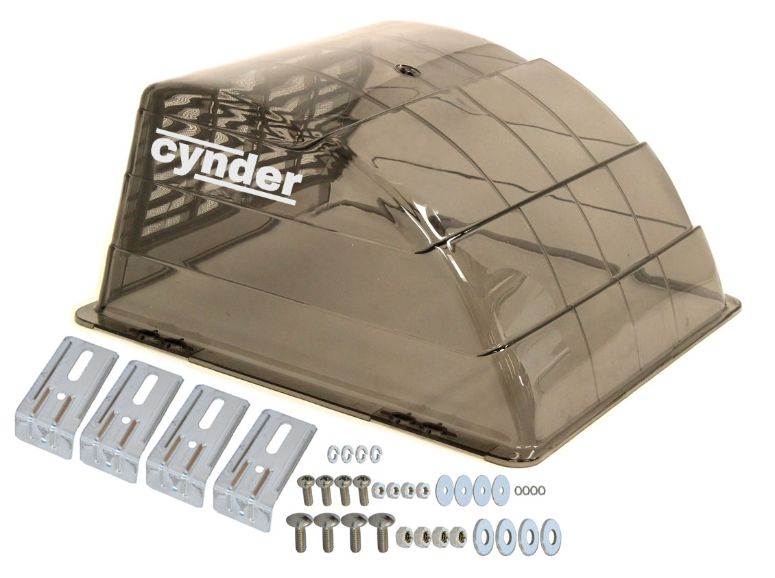Cynder Universal Roof Vent Cover Shield Smoke Rv Camper 21 99