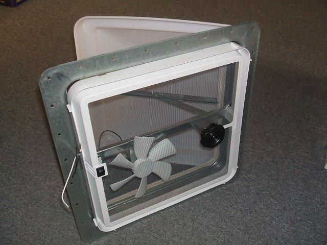 RV Power Roof Vent Ventline 12V Fan White