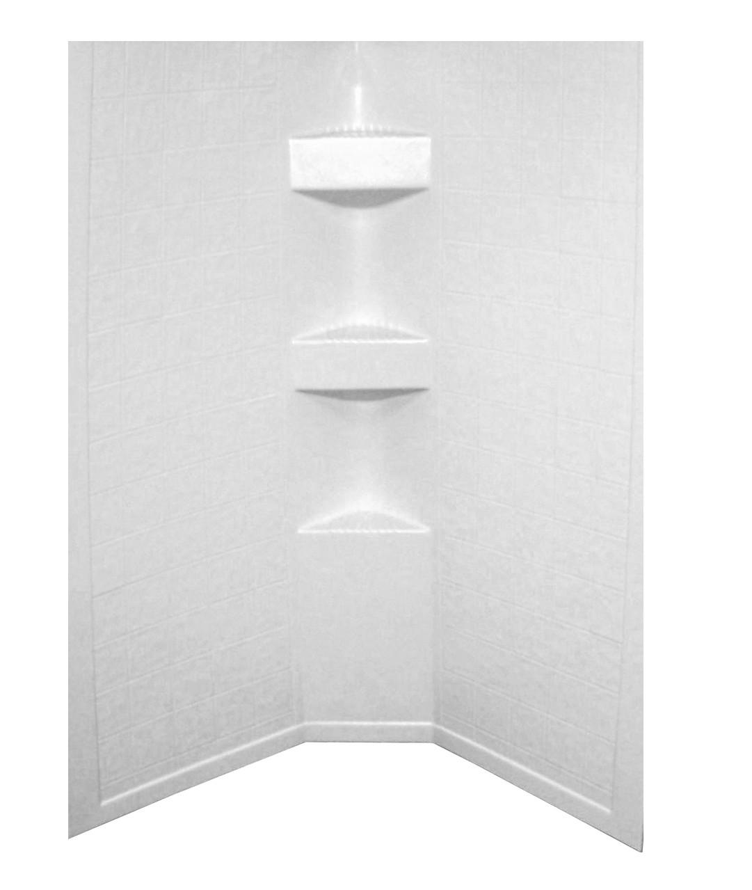 Better Bath Neo Angle RV Shower Surround - 34 x 34 x 64, 9.5 Rise..