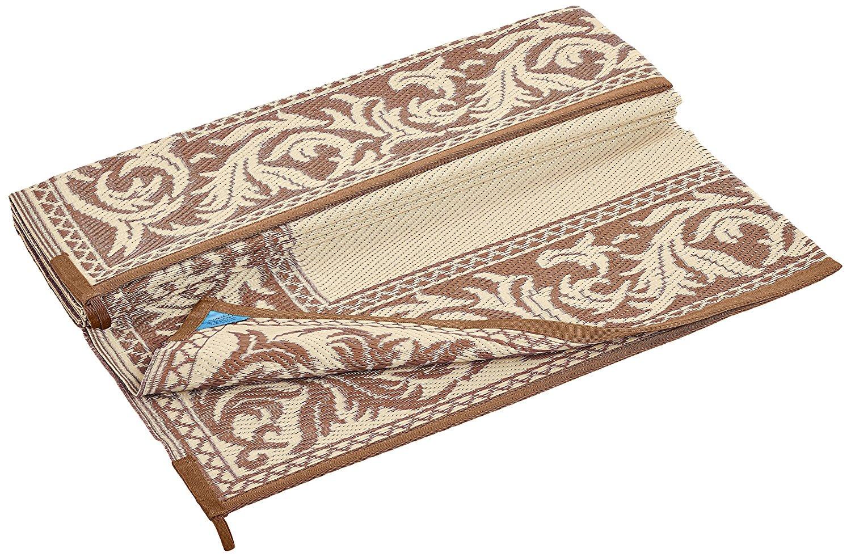 6 X 9 Reversible RV Patio Mat/Rug/Carpet Outdoor Brown Beige