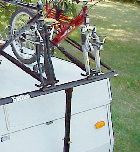 ProRac 2 Two Bike Bicycle Carrier Rack PopUp Tent Trailer C&er RVPB020-1  sc 1 st  Adventure RV & ProRac 2 Two Bike Bicycle Carrier Rack PopUp Tent Trailer Camper ..