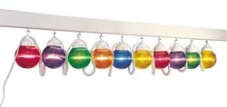 RV Awning Patio Party Lights Globes Multi Colored 10 Pack